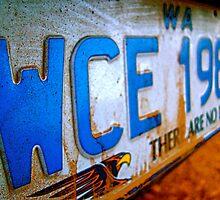 West Coast Eagles numberplate by Blake Johnson
