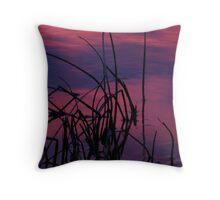 Reeds at Sunrise Throw Pillow