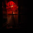 red lamp by square