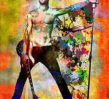 Adam Levine Art Print, Maroon 5 Original Painting Print by rockchromatic
