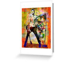 Adam Levine Art Print, Maroon 5 Original Painting Print Greeting Card