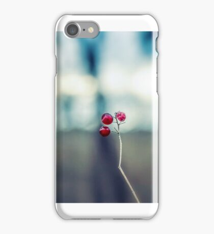 Three red balls iPhone Case/Skin