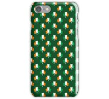 Irish Flag Green/White/Orange on Green St. Patrick's Day Ireland iPhone Case/Skin