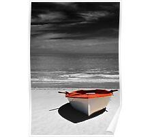 Deserted Boat. Poster