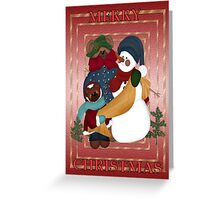 Snowman and friends Greeting Card