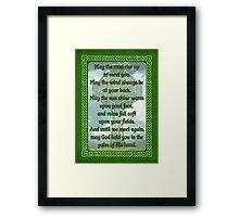 Green Irish Blessing Framed Print