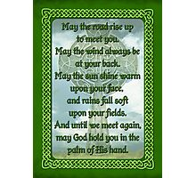 Green Irish Blessing Photographic Print