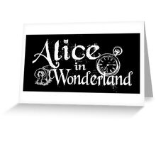 Alice - White & Black Greeting Card