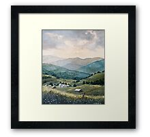 Mountain Valley Farm Framed Print