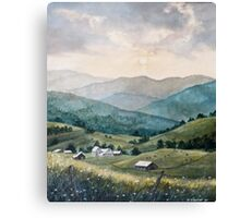 Mountain Valley Farm Canvas Print