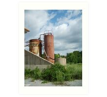 rusted industry Art Print