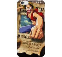 Wanted Luffy iPhone Case/Skin