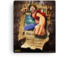 Wanted Luffy Canvas Print