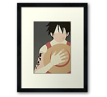 Luffy tribute has Ace Framed Print