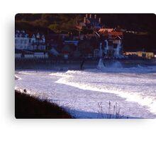Sea Front Sandsend Canvas Print
