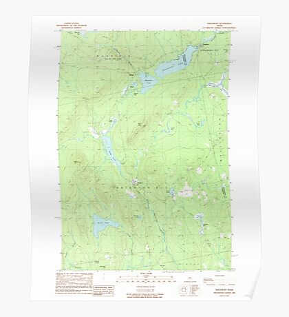 Maine USGS Historical Map Kingsbury 105266 1989 24000 Poster