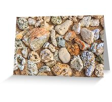 Abstract stones and pebbles Greeting Card