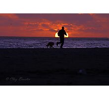 Sunset Run With Best Friend Photographic Print