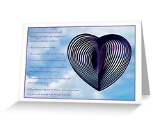 image with wedding verse Greeting Card