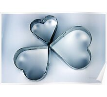 Vintage Metal Heart Cookie Cutter Set  Poster