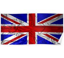 Wrinkled Union Jack Flag Poster