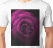 Pink Textured Rose Unisex T-Shirt