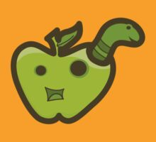 Green Apple and Worm by KjunSL1