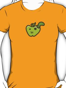 Green Apple and Worm T-Shirt