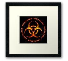 Biohazard Zombie Warning Framed Print