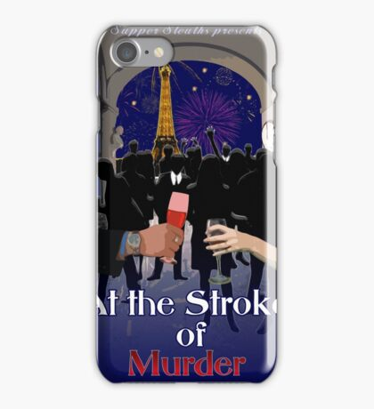 At the Stroke of Murder iPhone Case/Skin