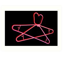 Neon Hangers Art Print