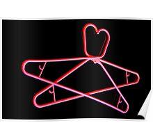 Neon Hangers Poster