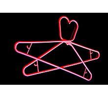 Neon Hangers Photographic Print
