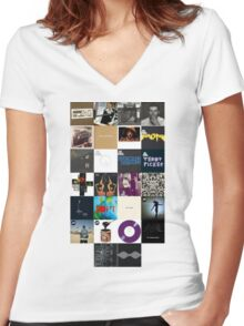 Arctic Monkeys Covers Women's Fitted V-Neck T-Shirt