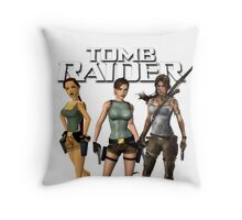 Lara Croft - Tomb Raider Throw Pillow