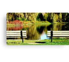 Benches  Canvas Print
