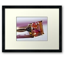 Metal and Stone Framed Print