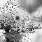 Wedding Centerpiece in B&W by Darlene Lankford Honeycutt