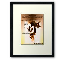 As a Little Child Come to Me Jesus said Framed Print