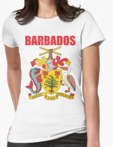 BARBADOS COAT OF ARMS Womens Fitted T-Shirt
