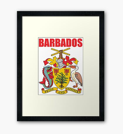 BARBADOS COAT OF ARMS Framed Print