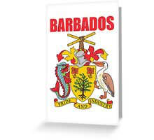 BARBADOS COAT OF ARMS Greeting Card