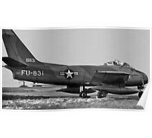 Canadair F-86E(M) Sabre 19831 USAF Poster