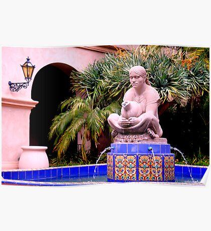 Prado Fountain at Balboa Park Poster