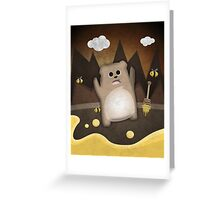 Too much honey to bear Greeting Card