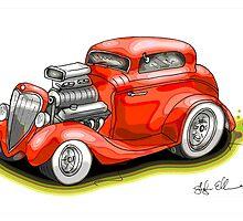 HOT ROD BEAST V8 CHEV STYLE by squigglemonkey