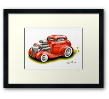 HOT ROD BEAST V8 CHEV STYLE Framed Print