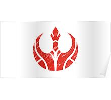 Rebels Segmented Logo (White Background) Poster