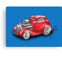 HOT ROD BEAST CHEV STYLE RED Canvas Print