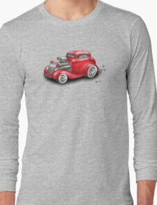 HOT ROD BEAST CHEV STYLE RED Long Sleeve T-Shirt